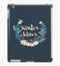 Winter Blues 004 iPad Case/Skin