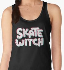 Skate Witch (pink and turq) Women's Tank Top