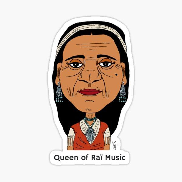 Cheikha Rimitti, Queen of Raï Music. Sticker