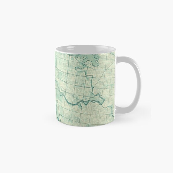 Melbourne Map Blue Vintage Classic Mug