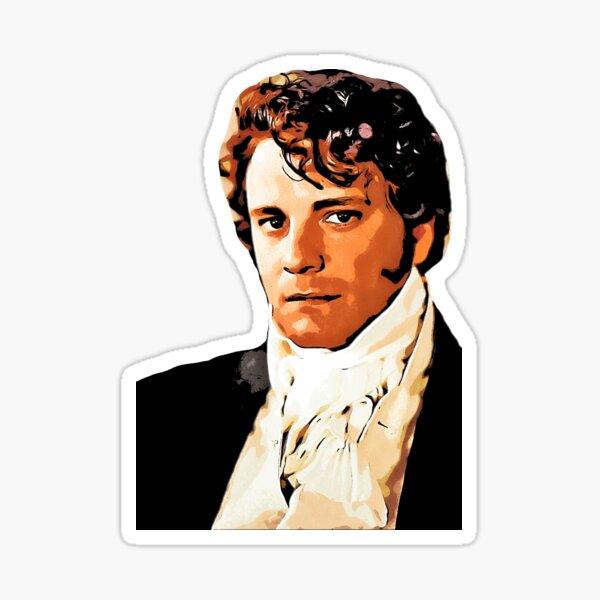 Mr Darcy, Pride and Prejudice Art Print Cartoon Effect Sticker