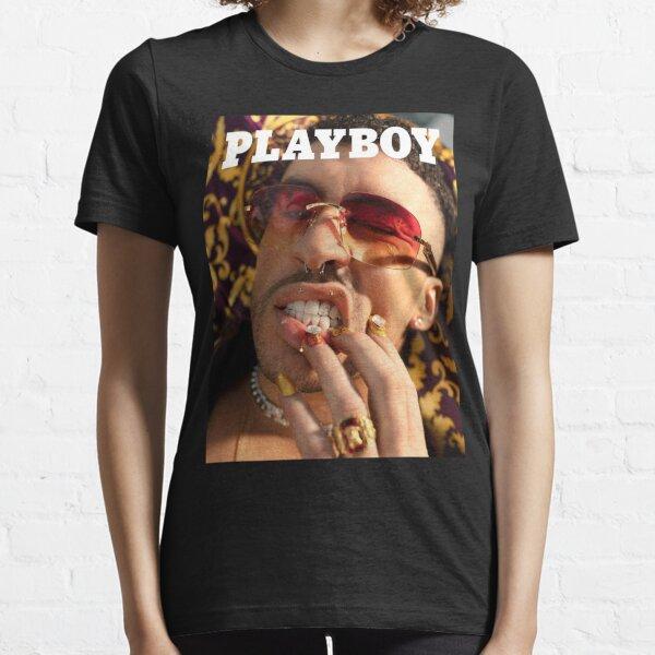Bad Bunny Play boy Magazine Shirt Bad Bunny Merch Streetwear Regalos personalizados para hombres y mujeres, regalo el día de Navidad Camiseta esencial