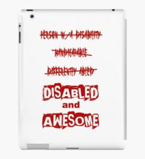 Disabled and Awesome (Red) iPad Case/Skin