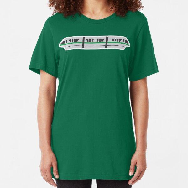 MONORAIL - GREEN Slim Fit T-Shirt