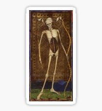 Medieval Death Illustration Sticker
