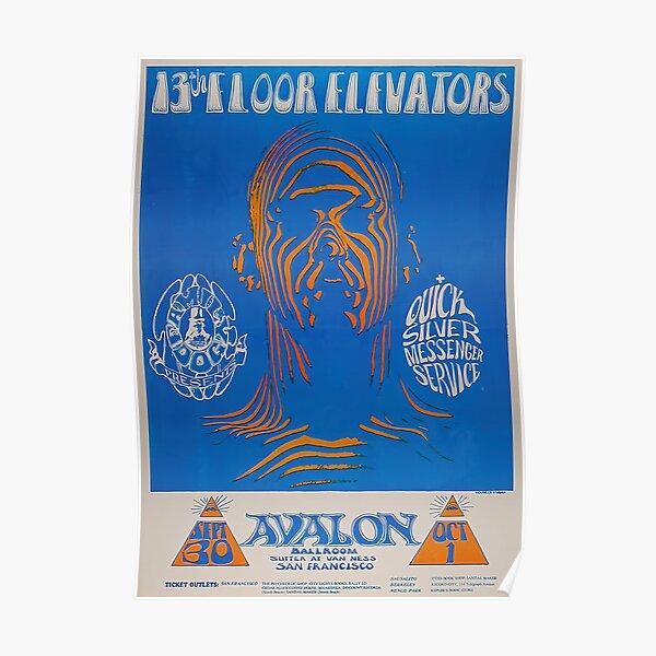 Cartel de concierto vintage de ascensores del piso 13 Póster