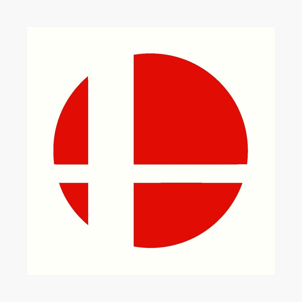 Super Smash Bros rotes Logo Kunstdruck