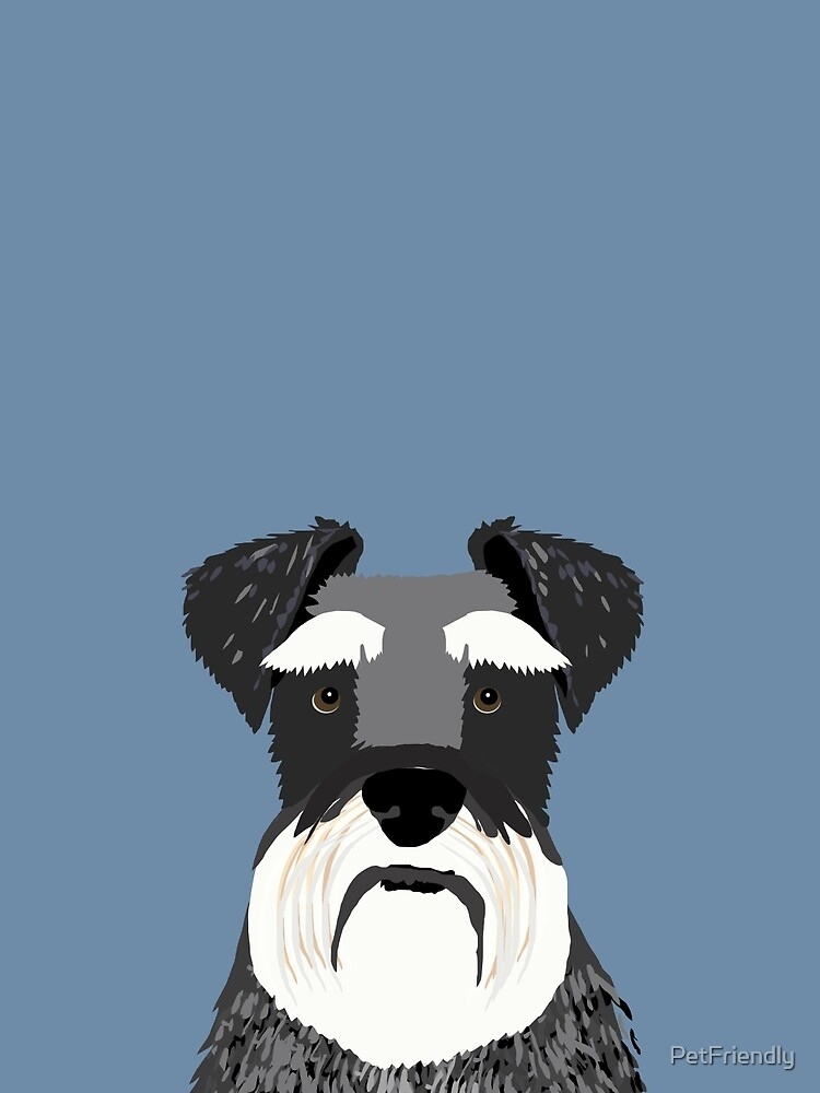 Schnauzer navy blue grey black and white funny pet friendly dog gift for dog person  by PetFriendly