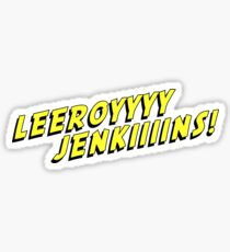 Leeroy Jenkins YELLOW gamer talk Sticker