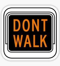 Don't Walk, Traffic Light, USA Sticker