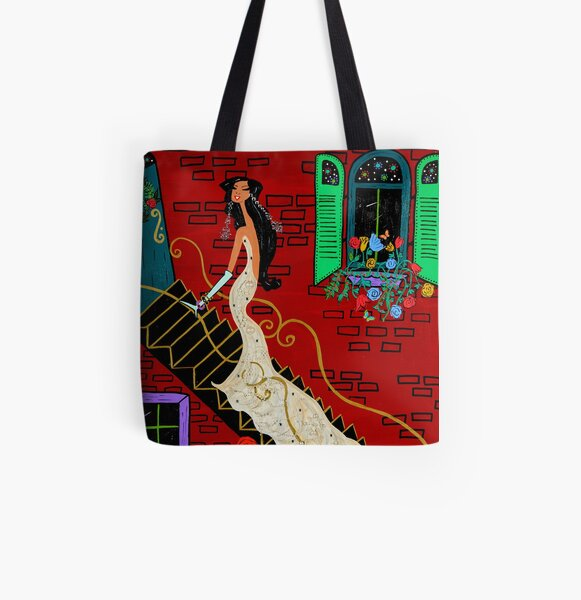 Evening in Paris All Over Print Tote Bag