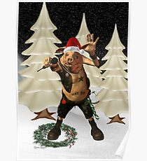 Christmas Pork ?? .. fun fantasy Poster