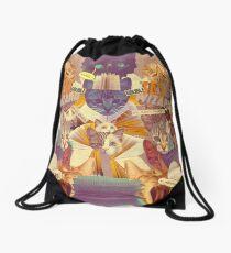 Cats n Books n Books n Cats Drawstring Bag