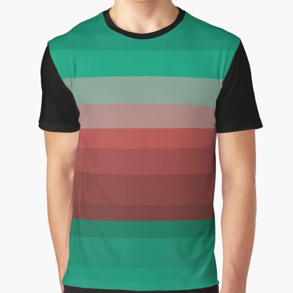 Winter 2021 Color Palette - Brick Red and Ultra Green Graphic T-Shirt