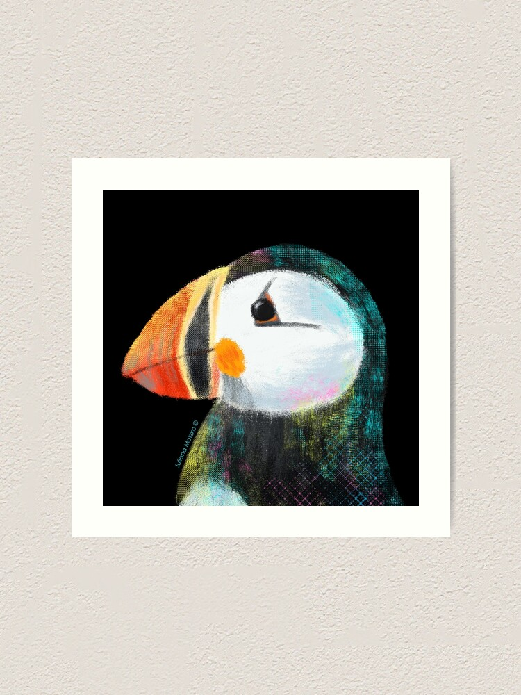 Alternate view of Puffin Art Print