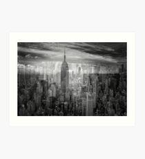 New York Collage Art Print