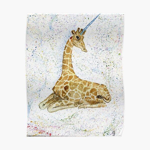 Giraffe Unicorn Poster