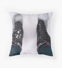 Winter Boots Throw Pillow