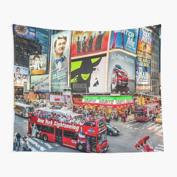 Times Square II original widescreen Tapestry
