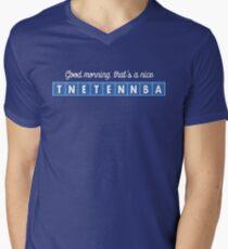 Good morning, that's a nice tnetennba. Men's V-Neck T-Shirt