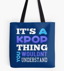 A KPOP THING - blue Tote Bag