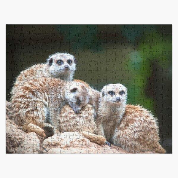 Meerkat Family  (digital painting) Jigsaw Puzzle