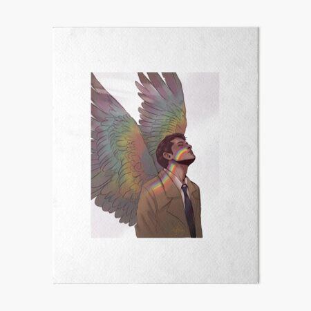 Castiel rainbow Art Board Print