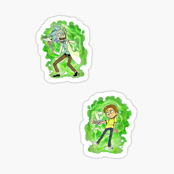 The Rickest Rick and the Mortiest Morty Sticker