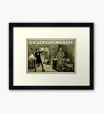 Gothic fiction - dr. jekyll and mr. Hyde Framed Print