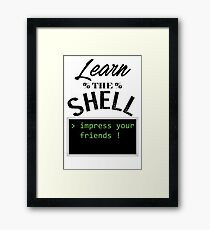 Learn the shell Framed Print