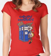 Calvin And Hobbes Tardis Women's Fitted Scoop T-Shirt