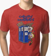 Calvin And Hobbes Tardis Tri-blend T-Shirt