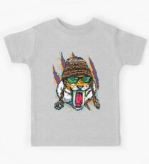 Sabre Tooth Tiger Chillin' With Winter Beanie Kids Clothes