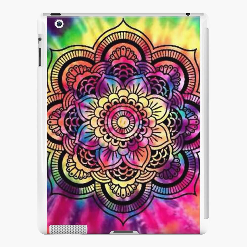Rainbow Tie Dye Mandala iPad Cases & Skins