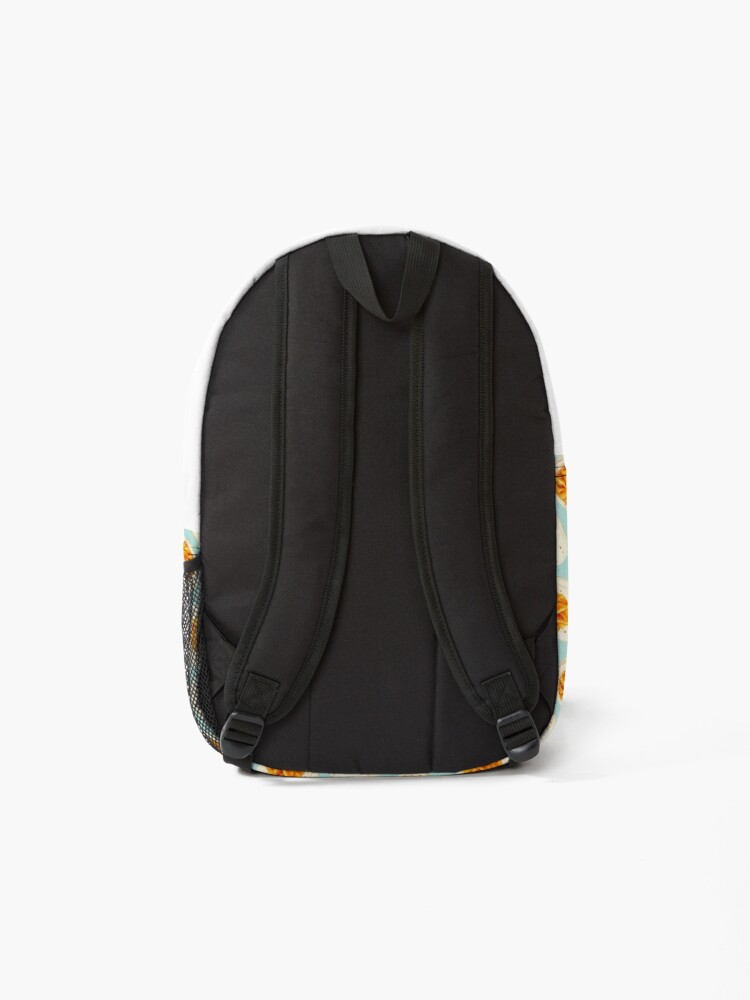 Alternate view of Deviled Egg Pattern - Blue Backpack