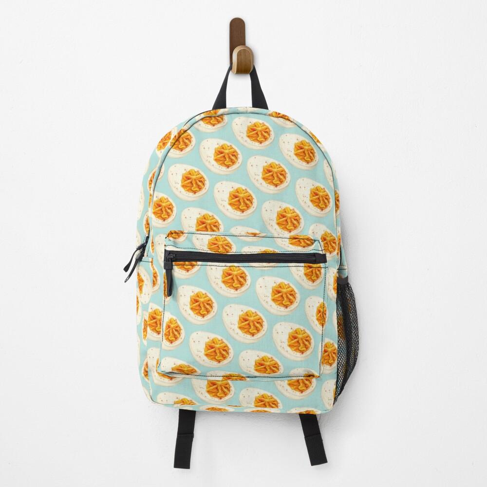 Deviled Egg Pattern - Blue Backpack