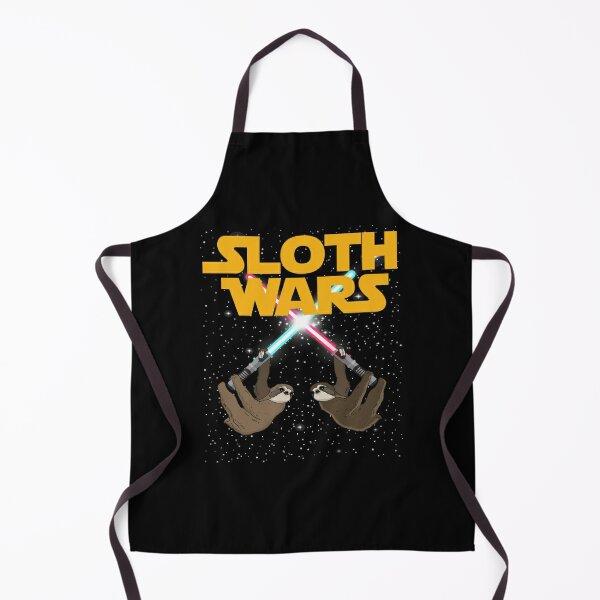 Sloth Wars SciFi Space Battle Meme Apron