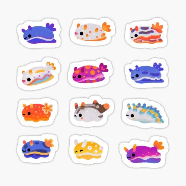 Sea Slug Day - bright Sticker
