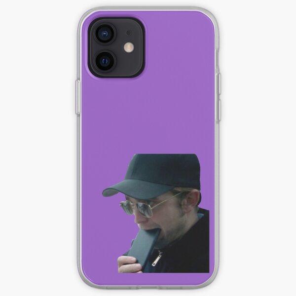 robert pattinson comiendo su celular Funda blanda para iPhone