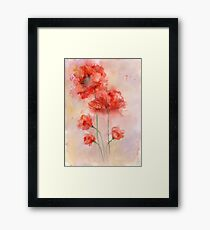 watercolor poppy Framed Print