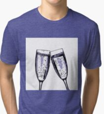Champagne wishes and caviar dreams Tri-blend T-Shirt
