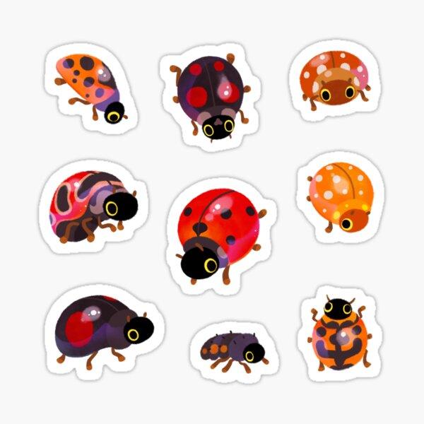 Lady beetles Sticker