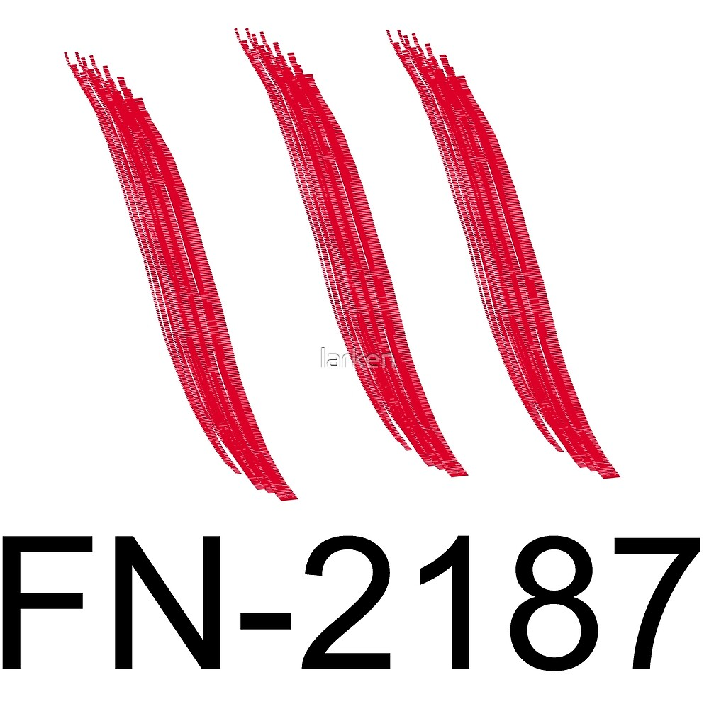 FN-2187 bloody hand print by larken