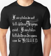 What Fairy Tales Do (GK Chesterton - White Text) T-Shirt