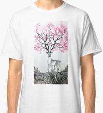 Cherry Blossom Deer Classic T-Shirt