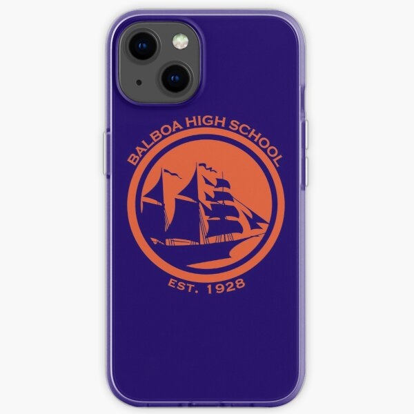 Balboa High School - Orange GSW Styled Logo iPhone Soft Case