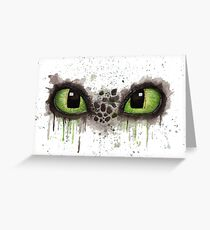 Toothless' eyes in watercolour Greeting Card