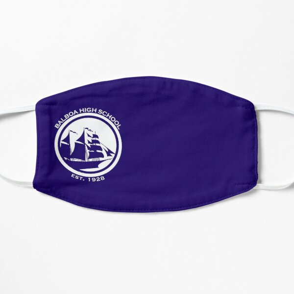 Balboa High School - White GSW Styled Logo Flat Mask