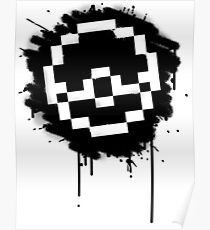 Pokeball Spray paint Poster