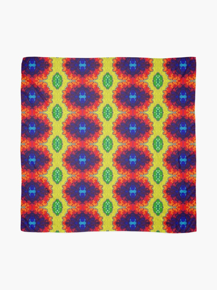 Alternate view of Psychedelic Abstract colourful work S7(Tile) Scarf
